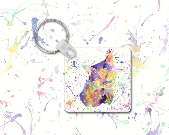 Keyring (sleeping cat)
